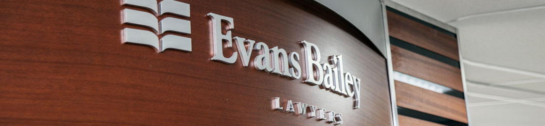 Evans Bailey Lawyers, Legal Services